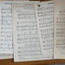 Lot Sheet Music Vintage 6 That Teasin Rag Toyland Jamboree
