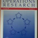 OPERATIONS RESEARCH Volume 39 Number 6 Nov-Dec 1991 Published by ORSA