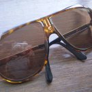 Vintage Carrera Aviator Sunglasses Tortoise Shell Brown Eyeglasses Shades