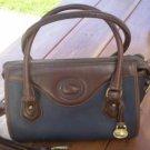 Dooney Bourke All Weather Leather Blue Satchel Vintage Bag