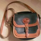 Dooney Bourke All Weather Leather Black Shoulder Bag Vintage