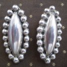 Clip Earrings TB-15K Sterling Silver Taxco Mexico Vintage