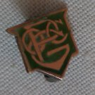 14K Gold Pin OCPG or PGOC Green Enamel Meyers & Co Vintage Lapel