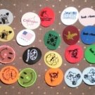 Golf Ball Markers Lot 27 1inch Plastic