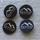 Lot 4 Whistler Golf Club Ball Marker Vintage Canada