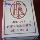 Concorde Air France Playing Cards Jeu Des Philosophes De L'An II Dusserre Sealed