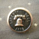 Liberty Bell 1776 Metal Button Self Shank Gold Black 5/8in Lot 2