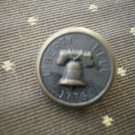 Liberty Bell 1776 Metal Button Self Shank Brass Black 5/8in Lot 2