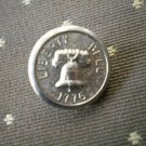 Liberty Bell 1776 Metal Button Self Shank Silver 5/8in Lot 2