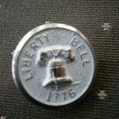 Liberty Bell 1776 Metal Button Self Shank Silver White 6/8in Lot 2