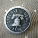 Liberty Bell 1776 Metal Button Self Shank Gray Black 6/8in Lot 2