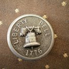 Liberty Bell 1776 Metal Button Self Shank Gray Black 7/8in Lot 2