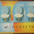 Greeting Card Happy Birthday Paper Magic Group Cupcakes Candles 3D