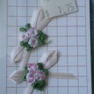 Wrights Applique Flowers Ribbon Sew-on 2/card