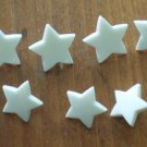 White Star Buttons Plastic Lot 11 Vintage Children Sewing Crafts 15mm 13mm