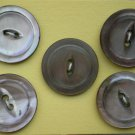 Abalone Cat-eye Buttons Shell Lot 5 2-hole Vintage