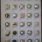 Vintage Buttons Bestco Fashion Plastic Goldtone Silvertone Faux Pearl Card Lot