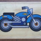 Rubber Stamp Motorcycle Motorbike Mounted Wood 5x3.5 Engine