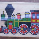 Rubber Stamp Train Mounted Wood 5x3.5 Engine