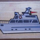Rubber Stamp Yacht Boat Mounted Wood 5x3.5 Ship