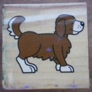 Rubber Stamp Dog Puppy Mounted Wood Animal 3.5x3.5