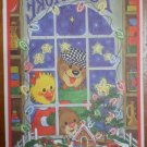 Suzy Zoo Postcard Christmas Card Spafford Toy Store Window '84 Vintage