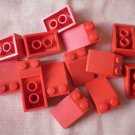 Lego Slope 3x2 Red Lot 14 Slant Roof Pieces