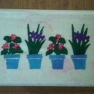 Four Small Flower Pots C2787 Rubber Stamp Happy Stamper Mounted Wood 4