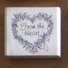 From The Heart Rubber Stamp Valentine Wreath WM