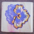 Rubber Stamp Pansy Stampendous A102 Mounted 1996