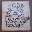 Rubber Stamp Pansy Seeds E325 Mounted D.O.T.S. Dots Kind Thoughts