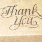 Rubber Stamp Thank You PSX C-732 Vintage Wood Mounted
