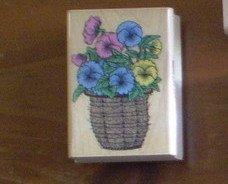 Rubber Stamp Hero Arts Pot O Pansies E 972 Flowers Plants Edit item   Reserve item