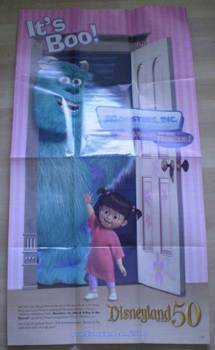 Mike Sulley To The Rescue Poster Monsters Inc Disneyland