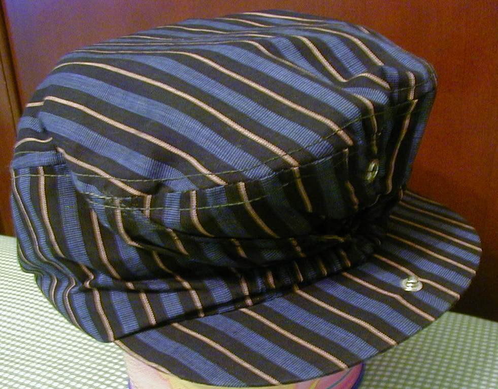 Cali-Fame Hat Cap Blue Stripes Driver Golf Vintage 7-7.5