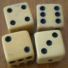 Lot 4 Plastic Dice Vintage Game Parts Small Die