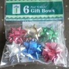 6 Gift Bows Mini ribbons bows peel and stick berwick CSS