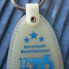 American Bicentennial Keychain 1976 Vintage Key Ring Glow Tag Plastic USCO