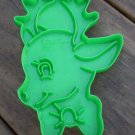 Vintage Cookie Cutter Wilton Reindeer Head Rudolph Plastic 1988 Green