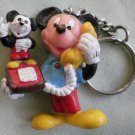 Mickey Mouse Keychain PVC Telephone Vintage Key Holder