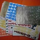 Creative Memories Stickers Numbers Huge Lot numerals 51sheet