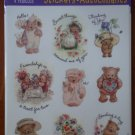 Hallmark Stickers Bears Heartline 4sheets New Teddy Acid Free NOS