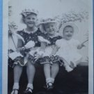 Vintage Photograph Trio Children Girls Baby Easter