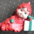 Vintage Avon Santa's Helper Pomander Elf Red