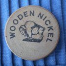 C&D Scrap Metal Co Houston Texas Wooden Nickel Vintage Wood TX