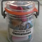 Genuine Mini Gemstones Jar Various Colors Chips Stones