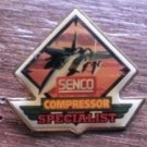 Senco Compressor Specialist Pin Enamel Gold-Tone Metal USA