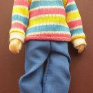 1988 Horsman Doll Man Figure Stripe Shirt Male Daddy 5 3/4