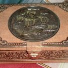Vintage Metal Tin Box Chymos Tall Ship Brown Mast