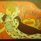 Vintage Valentines Card Old King Cole Valentine Heart